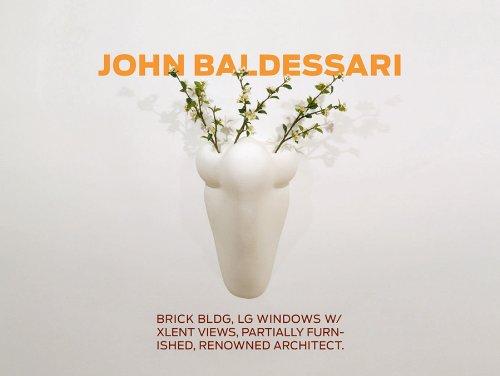 Download John Baldessari: Brick Bldg, Lg Windows W/Xlent Views, Partially Furnished, Renowned Architect (Kerber Art (Hardcover)) pdf epub