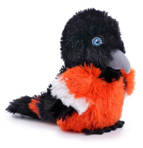 goDog Birds Oriole Tough Plush Dog Toy with Chew Guard Techn