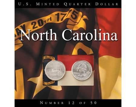 2001 North Carolina State Quarters P and D - Quarter State North 2001 Carolina