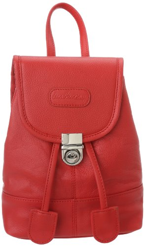 Leatherbay Leather Mini Backpack,Crimson Red,one size - Leatherbay Laptop Leather Backpack
