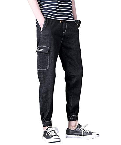 Slim Alla A Tempo E Fascio Libero Pratici Dritto Fit Moda Il Di Harem Pantaloni Tasca Per Colour Design Laterale Giovane Jeans 8TwnqXC7t