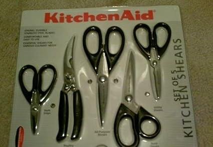 Amazon Com Kitchenaid Cook Black 5 Piece Kitchen Shears Set