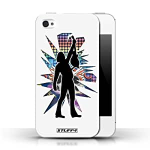 KOBALT? Protective Hard Back Phone Case / Cover for HTC One M7 | Reach White Design | Rock Star Pose Collection