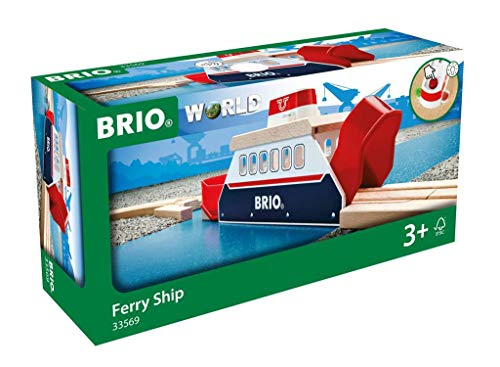 BRIO World – 33569 Ferry Ship | 3 Piece Toy Train Accessory for Kids Ages 3 and Up