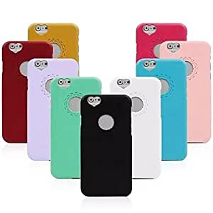 YXF Carving and Heard-shape Pattern Solid Color Hard Cover for iPhone 6 (Assorted Colors) , Rose