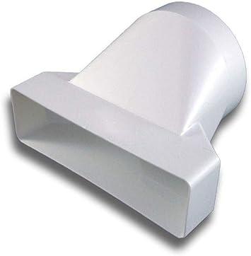 Adaptador de pieza de transición de PVC plano/cuadrado > Sistema redondo 125 a Ø 125: Amazon.es: Bricolaje y herramientas