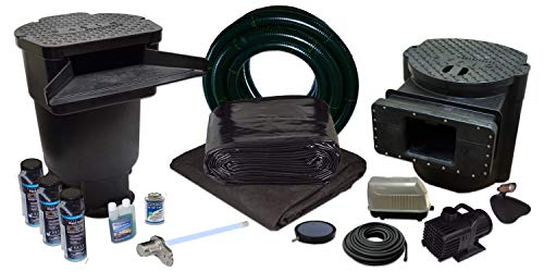 Half Off Ponds Savio Signature Series with UV Water Garden and Pond Kit, Large with 15 Foot x 25 Foot PVC Liner
