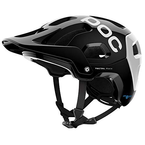 POC Tectal Race Spin, Helmet for Mountain Biking, Uranium Black/Hydrogen White, M-L