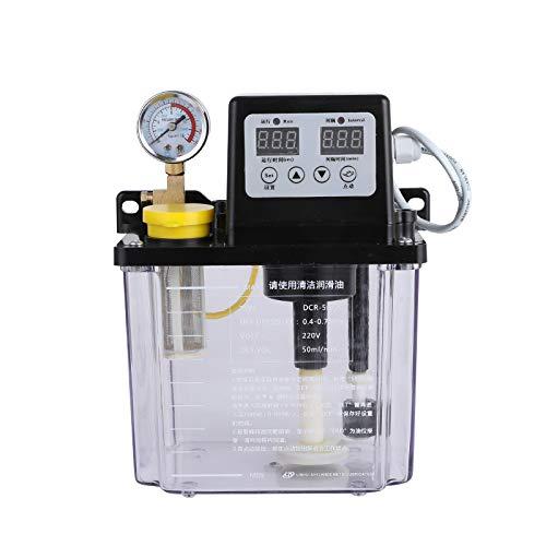 ELEOPTION Dual Digital Display Automatic Lubrication Pump Oiler NC Pump With 2L Volume, 110V