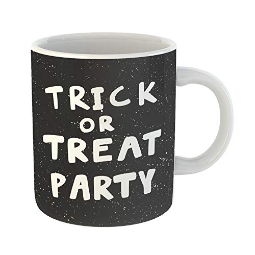 Emvency Coffee Tea Mug Gift 11 Ounces Funny Ceramic Trick Treat Party for Social Media Content Bubble Pop Comic Post Video Gifts For Family Friends Coworkers Boss Mug ()