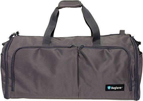 Suit Garment Bag By Baglane - Military Travel Duffel Bag (Lead Gray)