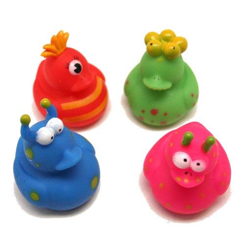 Fun Express 12 Vinyl Monster Rubber Duckies -