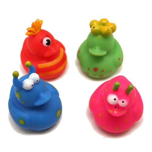 12 Vinyl Monster Rubber Duckies by Fun (Monsters Inc Baby Stuff)