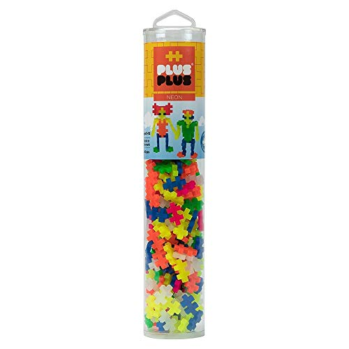 - Plus-Plus - Open Play Tube - 240 Piece - Neon Color Mix Toy
