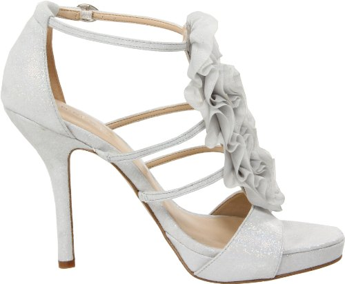 NINE WEST - Sandale À La Cheville Sangle Femme NWFAIRYTALE WHITE Talon: 11.5 cm