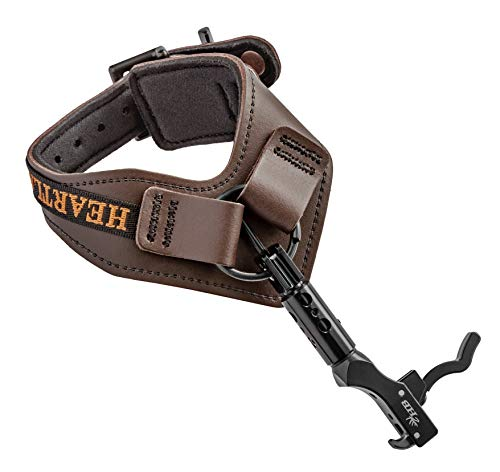Cobra Archery Heartland Bowhunter Select Release 4 Interchangeable Triggers - Triple Joint Foldable Release Position - Comfortable Buckle Strap - Best Bow Release (Brown)