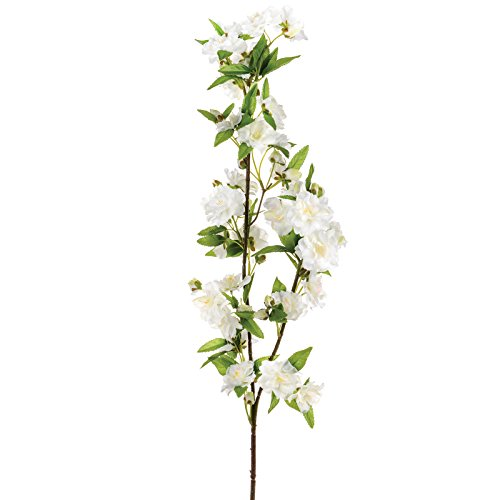 FloristryWarehouse Artificial Apple Blossom Branch Cream 36 inches Spring Flowers