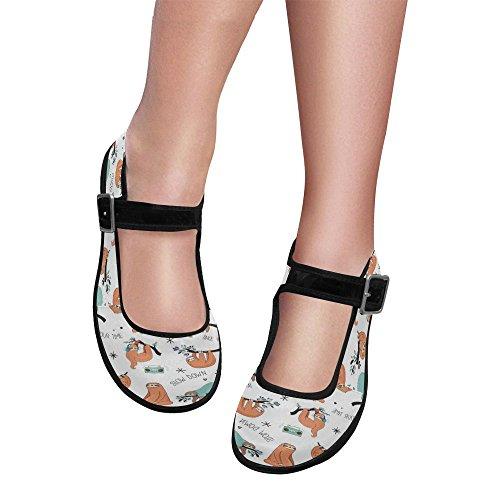 Walking Comfort Casual Jane Interestprint Mary Womens Flats Shoes g4awKYvqU