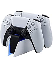 Mcbazel Dual Charger for PS5, Controller Charger Fast Charging Station Dock USB Type C Charging Adapter with LED Indicator for Playstation 5 DualSense Controller