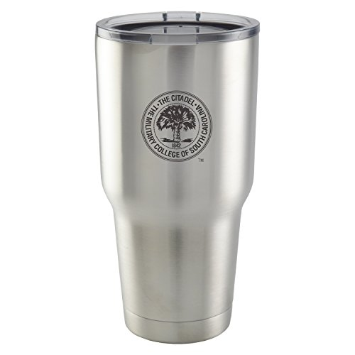 The Citadel|30 oz Vacuum Insulated Stainless Steel Tumbler with Acrylic Lid|BPA Free|Collegiate Licensed NCAA - Citadel The Hours