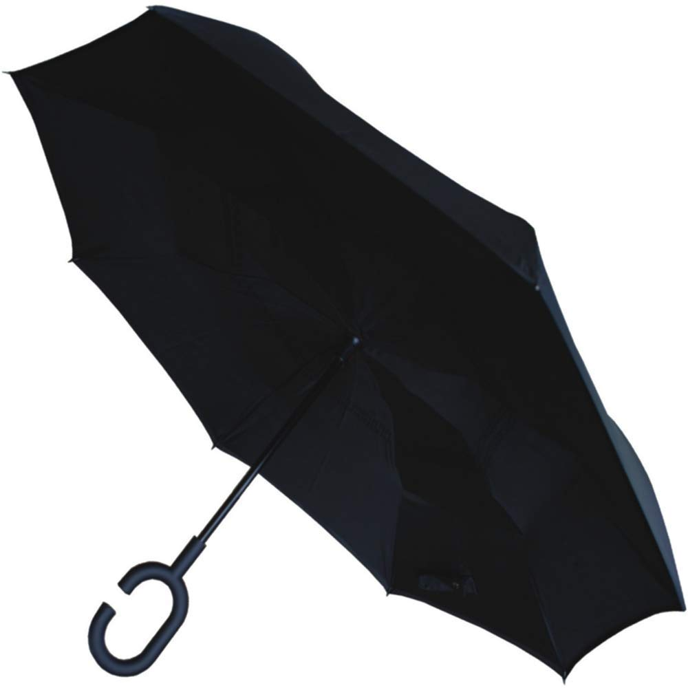 COLLAR AND CUFFS LONDON - Inside Out Stockschirm SEHR STARK - Windproof - Verstä rkt mit Fiberglas - StormProtector StayDry - Rutschfeste C Griff - Regenschirm - Schwarz CCLSTORMPUMB10234