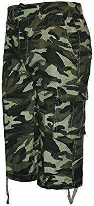 Taboo Fashion Clothing Mens Camouflage Shorts Elasticated Waist 3//4 Cargo Combat Pocket Summer Trousers M L XL XXL XXXL
