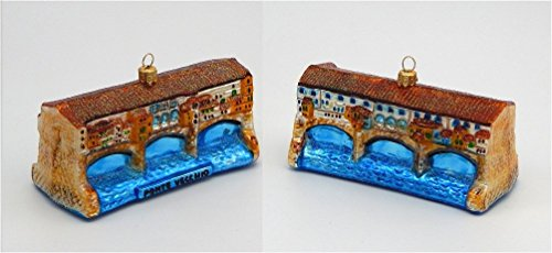 A Bit of Britain Ponte Vecchio Bridge - Florence Italy - Polish Glass Christmas Ornament 2018 Design