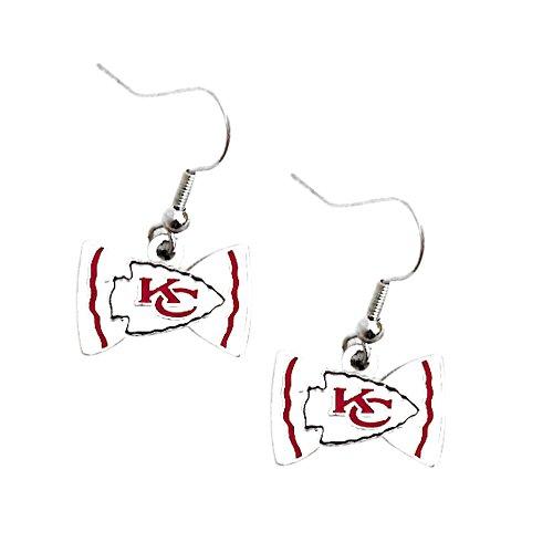 Bow Tie Logo Dangle Earrings (NFL Kansas City Chiefs Bow Tie Earring Dangle)