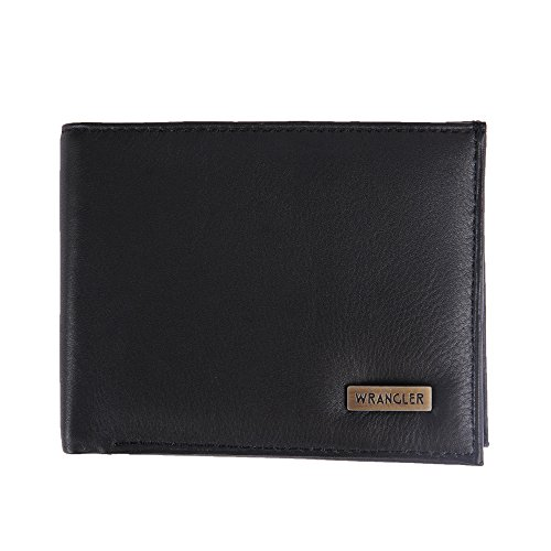 WRANGLER Men #39;s black genuine leather wallet KB 1627bl