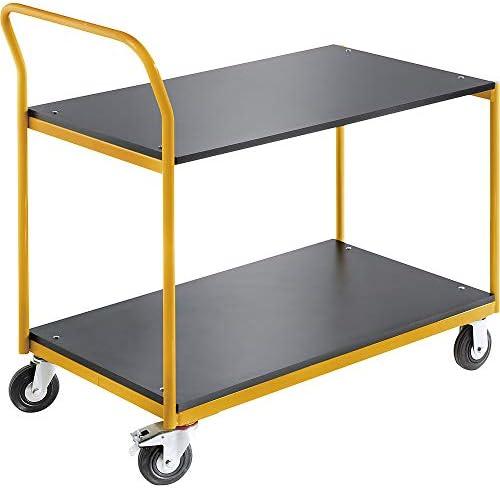 QUIPO Industrie-Tischwagen 2 Ladeflächen LxB 1030 x 600 mm, Tragfähigkeit 150 kg - QUIPO-Transportgeräte
