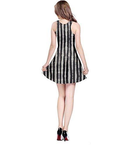 Dye Womens Strip Tie Reversible Sleeveless Dress Black CowCow 6E7xwq7