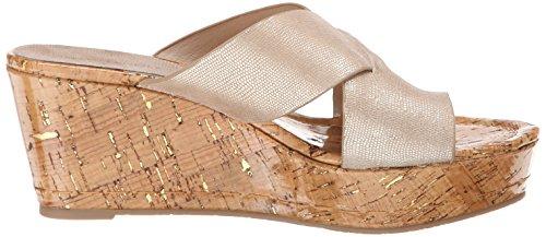 Donald J Pliner Womens Fuji2 Wedge Sandal Platino Metallic Lizard Print O9Jg9z2