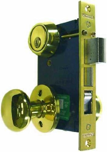 Marks 22AC/3-W-RHR Heavy Duty Mortise Lockset Iron Gate Double Cylinder 2-1/2