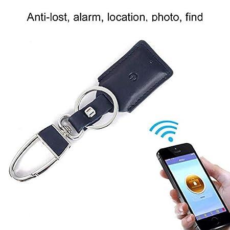 AOLVO Kabellos Schlü sselfinder, Wireless Key Finder Geldbeutel Wallet Finder Sachenfinder Sender mit Anti Verloren Alarm Mahnung Positionierung, Smart-Schlü sselbund, Blau