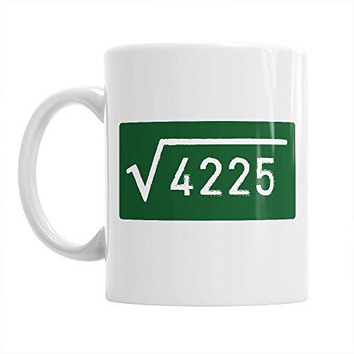 65th Birthday, 65th Birthday Gift, 65th Birthday Gifts For Men, 65th birthday Gifts For Women, 1952 Birthday, Square Root Mug 1952, Coffee Mug