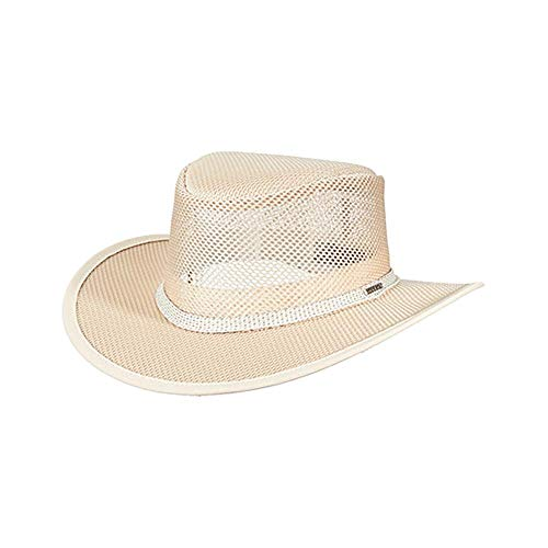 Cowboy Sun Protection (Stetson Men's Mesh Covered Hat, Natural, Large)