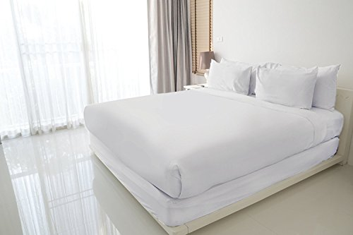Luxuress 100% Long Staple Soft Cotton Sheet Set, SmoothStrongWeave, 4 Piece Set, QUEEN SHEETS, 15