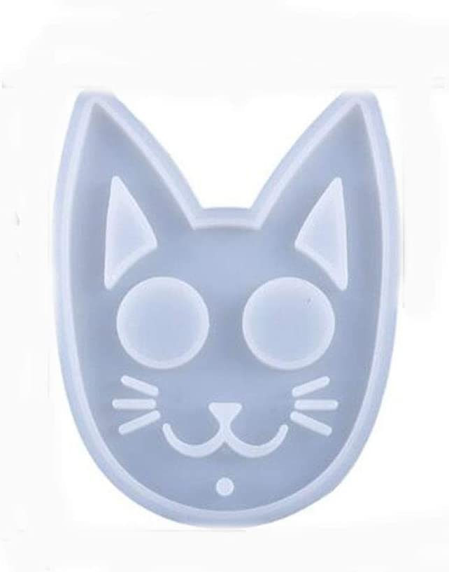 Cat Resin Mold Keychain Pendants Molds Epoxy Jewelry Casting Polymer Clay Mold(white)