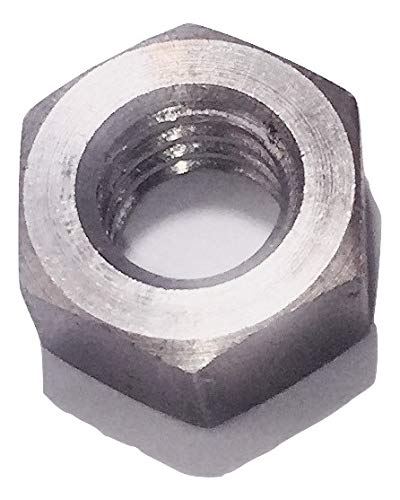 1/4-20 Left Hand (Reverse) Thread Hex Nut Stainless Steel 18-8 (10 Pack) Made in USA ()