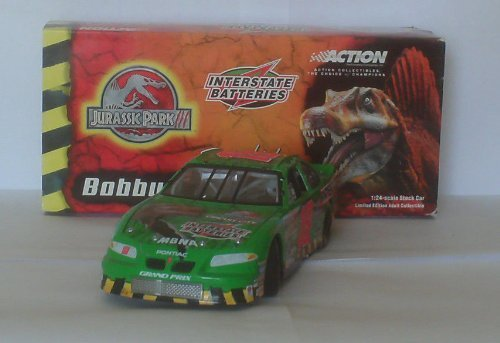 Bobby Labonte 2001 #18 1:24 Scale Interstate Batteries Jurassic Park 3 III Movie Theme Action Racing Collectables Hood and Trunk Open Limited Production