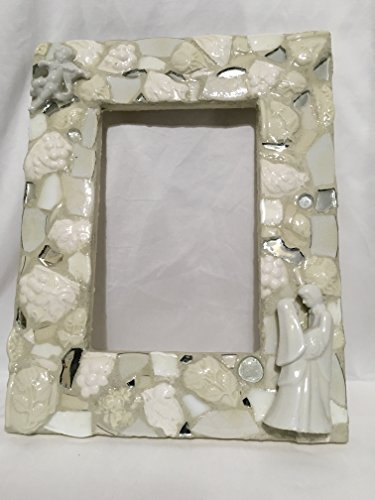 Wedding Bridal Mosaic framed mirror by Mountain Mosaics