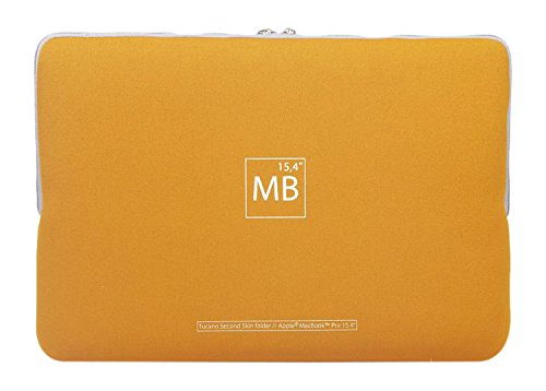 "Tucano Elements Second Skin BF-N-MB154-Y, Custodia per MacBook Pro 15"", Giallo"