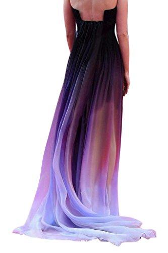 Chiffon Farbe lila BRIDE Einzigartiges GEORGE Design tiefpurpurn Brautkleid Abendkleid charmante YXnUZAwqx
