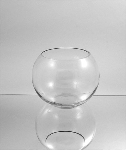 Amazon Wgvi Clear Round Bubble Bowl Glass Vasecandle Holder