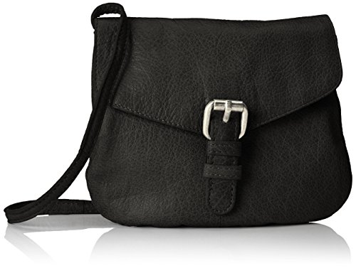 PIECES Pcabby Leather Party Bag Noos - Bolsos bandolera Mujer Negro (Black)