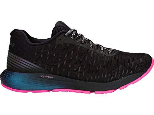 ASICS Women's Dynaflyte 3 Lite-Show Running Shoes, 10.5M, Black/HOT Pink