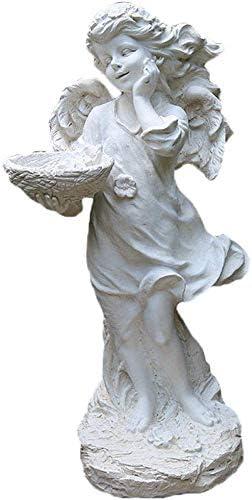Decoracion Escultura De Jardín Estatua del Ángel Jardinería Al Aire Libre Estatuas Esculturas Decoración del Patio Artesanía De Resina Artículos De Decoración Adecuado para Sala De Estar Dormitorio: Amazon.es: Hogar