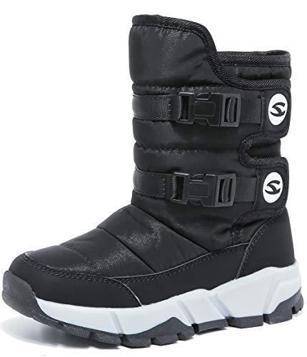 HOBIBEAR Kids Winter Snow Boots Waterproof