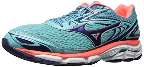Mizuno Running Women's Wave Inspire 13 Shoes, Blue Radiance/Blueprint/Fiery Coral, 6.5 B US