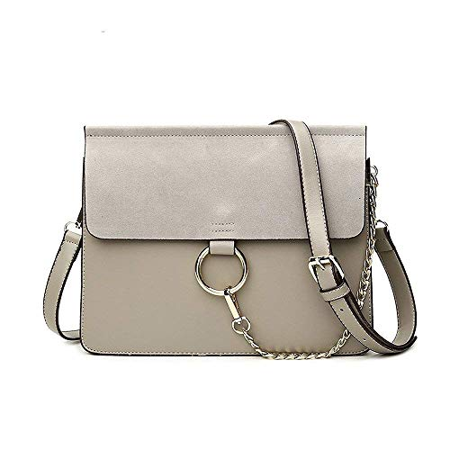 Olyphy Designer Ring Bags for Women, Mini Shoulder Purses Leather Crossbody Bag with Chain ()